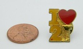 Late 1970's Early 1980's I Love 2 Screw Red Yellow Enamel Hat Lapel Pin D - $5.94