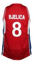 Nemanja Bjelica #8 Serbia Basketball Jersey New Sewn Red Any Size image 2