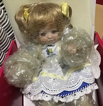 "Marie Osmond Tiny Tot Porcelain Doll ""Got Milk?"" With Milk Mustache COA NIB - $40.00"