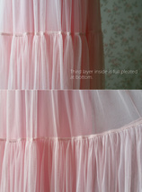 Floor Length Pink Tulle Skirt Pink Bridesmaid Tulle Skirt Plus Size image 7