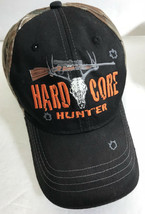 Hard Core Hunter Snapback Hat Realtree Camo Rifle Deer Skull Baseball Cap - $3.89