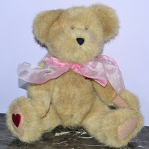 Boyds Bear JB Bean Willie B Loved 82025 Pink Bow with Tag - $9.74