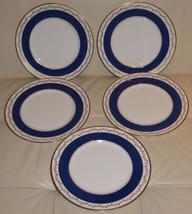 5 COALPORT PORCELAIN CARDOVA PATTERN DINNER PLATES - $149.00