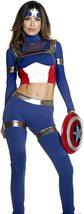 Fine Fighter Sexy Foreplay Captain America Comic Book Hero Deluxe Costume