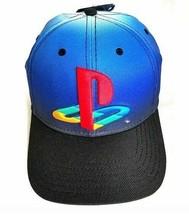 Sony Playstation Original Logo Flexfit Hat Baseball Cap Blue & Black - New  - $21.37