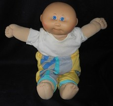 Vintage Cabbage Patch Kids Boy Bald W/ Outfit Stuffed Animal Plush Toy Doll T - $28.05