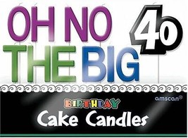 The Party Continuous 40th Birthday Party 'Oh No The Big 40' Molded Toot... - $17.77