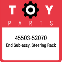 45503-52070 Toyota End Subassy Steering Rack, New Genuine OEM Part - $64.88