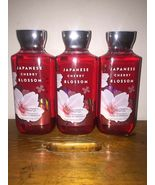 Lot of 3 Bath & Body Works Japanese Cherry Blossom Shea & Vit E Shower Gel 10 oz - $26.09