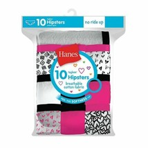 10-Pack Hanes Girls Cotton Hipsters Panties - Assorted Packs - Sizes 4-16 - $18.04