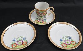 Vintage Porcelain CUP & 3 SAUCERS Made in Occupied Japan Floral - $20.00