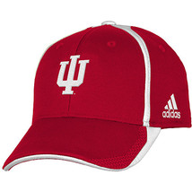 Adidas NCAA College INDIANA HOOSIERS RED Football Curved Hat Cap Size S/M - $20.00