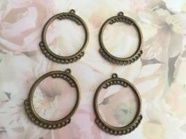 Metal Hoop Findings, Lot of 4, Bronz Plated, 45... - $5.00