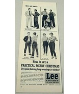1954 Print Ad Lee Brand Blue Jeans Kansas City,MO - $13.80