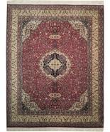 Burgundy Gorgeous Adorned with Peafowls Handmade Rug 8' x 10' Jaipur Woo... - $1,137.65