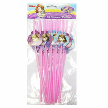 Sofia The First Character Drinking Straws 18 Pack - $4.74