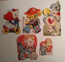 5 Vintage Valentines Day Cards - $15.00
