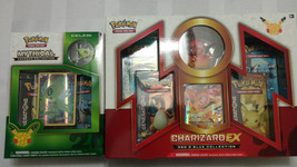 POKEMON 20th Anniversary Red and Blue Collection Charizard EX + Celebi M... - $69.99