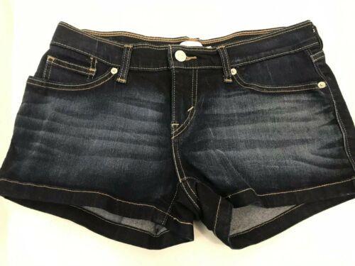 Levi's Strauss Oscuro Lavado Denim Shorts, Mujer Talla 29W