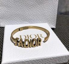 AUTH Christian Dior 2019 J'ADIOR AGED GOLD BRACELET CUFF BANGLE image 5