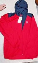 Men's Spyder Alpine Full Zip Hoodie Jacket/Windbreaker 1 Red Medium Left!! - $22.99