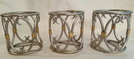 Set of 3 Southern Living at Home Silver and Gold Votive Candle Holders - $9.49