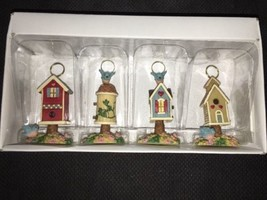 NEW Boston Warehouse Set of 4 Bouncing Bird House Menu Place Card Holder... - $9.89