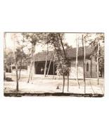 Picnic Building Indian Lake State Park Manistique Michigan RPPC postcard - $7.43