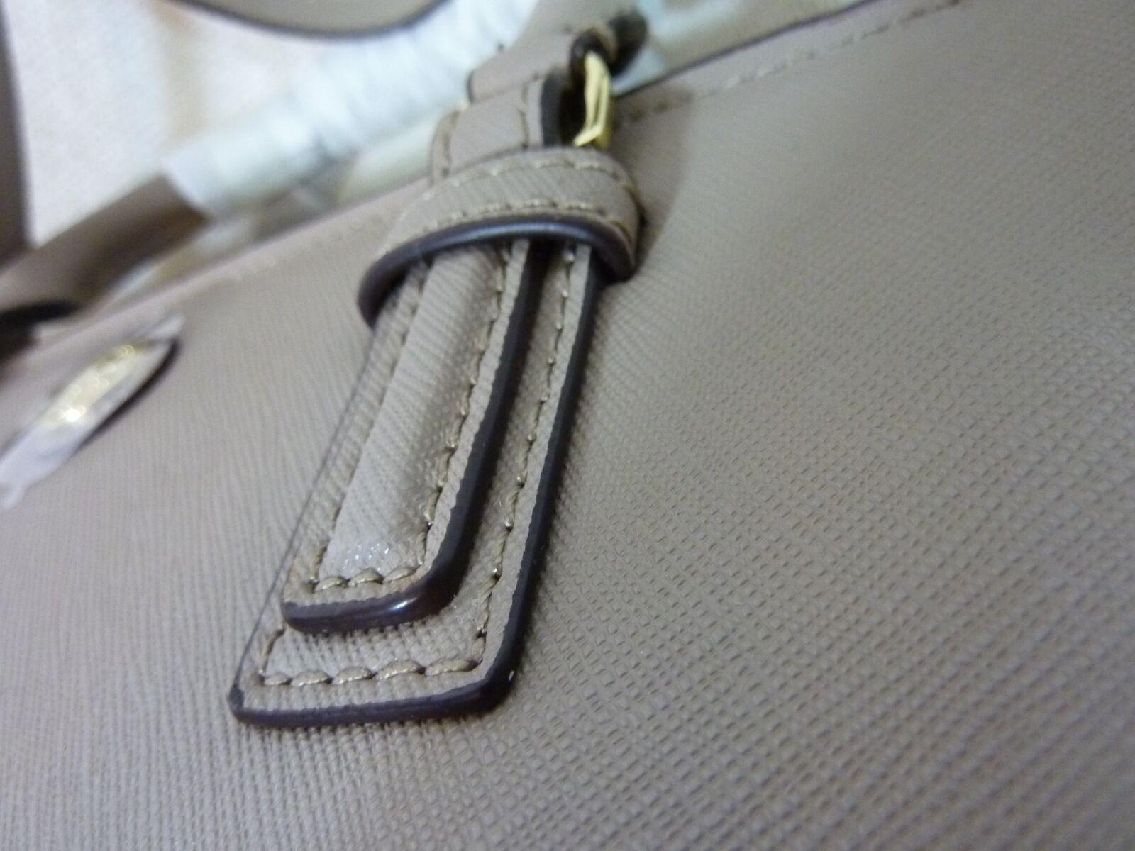 NWT Tory Burch French Gray Saffiano Leather Robinson Mini Square Tote image 8