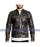 Affliction Evident 110OW331 New Long Sleeve Genuine Leather Moto Jacket ... - $598.90