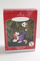Hallmark 1998 Keepsake Ornament Mickey & Co Goofy Soccer Star - $9.49
