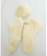 Vintage Rabbit Fur Cape Stole & Hat for Medium Fashion French Fashion Doll - $48.99