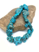 "Sale Beautiful Turquoise Nugget Free Form Bead Strand Set 16"" 3153 Gift - $192.70"