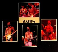 FRANK ZAPPA W/ GIBSON SG ADRIAN BELEW SHEIK YERBOUTI TOUR 4 PHOTOS ON CA... - $45.00