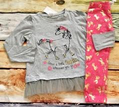 Gymboree Unicorn University 3T Sparkle Tulle Top Unicorn Leggings NWT Ou... - $23.99