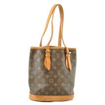 LOUIS VUITTON Monogram Bucket PM Shoulder Bag M42238 LV Auth ar1472 - $180.00