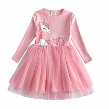 NEW Silver Unicorn Girls Pink Tutu Dress 3-4 4-5 5-6 6-7 7-8 - $16.99