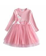 NEW Silver Unicorn Girls Pink Tutu Dress 3-4 4-5 5-6 6-7 7-8 - $16.99