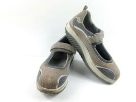 Skechers Shape Ups Women's Walking Shoes Grey Mary Jane Toning Sneakers ... - $39.42