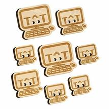 Crying Kawaii Computer Face Emoticon Wood Buttons for Sewing Knitting Cr... - $9.99