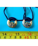 2 Necklaces pendant Filipino Ifugao tribal Brass Fertility jewelry lucky... - $22.28