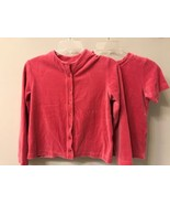 HANNA ANDERSSON Girls 140 (10) Pink Velour Button up Cardigan Sweater Ja... - $14.85