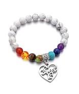DYJELWD Birthday Bracelet 7 Chakra Beads Stretch Healing Bracelet 10th 1... - $14.09