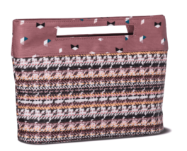 Sonia Kashuk Broken Houndstooth Cosmetic Bag Modern Pouch w organization pockets image 1