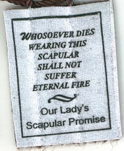 Brown Scapular of Our Lady of Mount Carmel with Pamphlet - 100% WOOL image 4