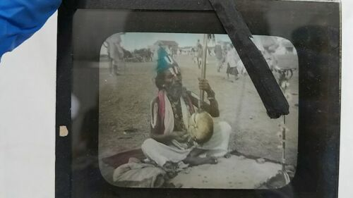 Vintage 3.5lb Lot Kodak Magic Lantern Slide Glass Plate India Village Asia