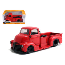 1952 Chevrolet COE Pickup Truck Red with Black Wheels 1/24 Diecast Model... - $29.34