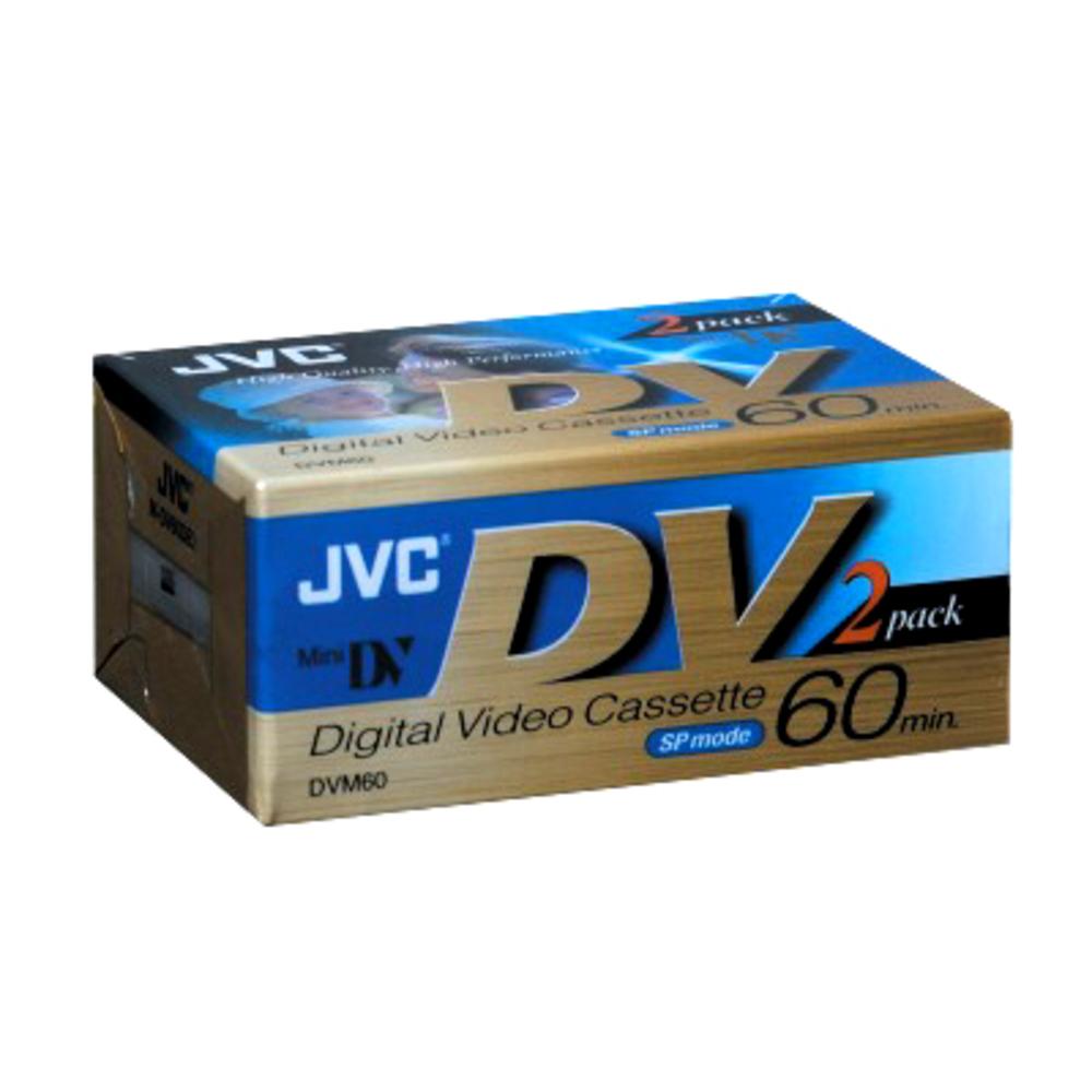 JVC M-DV60DE2 60 Min. Mini DV Tape 2 Packs