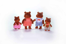 Vintage 1980s Calico Critters Forest Friends MapleTown Brown Bear Family... - $68.90