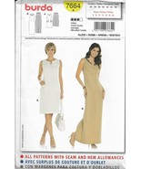 BURDA Pattern #7664-Misses Dress in Two Lengths-Sizes 8-10-12-14-16-18-20 - $7.66